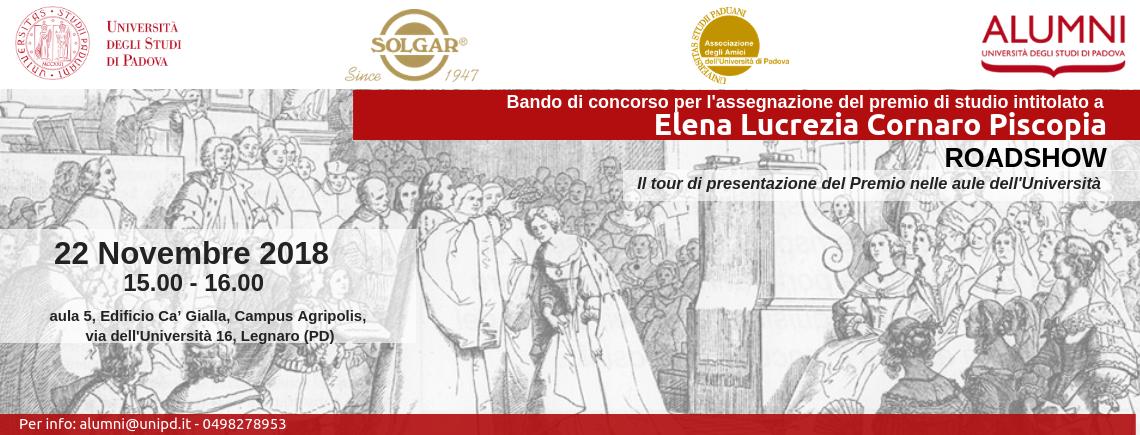 3° incontro Roadshow Bando di concorso per l'assegnazione del Premio di studio Elena Lucrezia Cornaro Piscopia | Esperienze di donne: conoscenza e valore