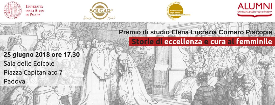Premio di studio Elena Lucrezia Cornaro Piscopia – Storie di eccellenza e cura al femminile