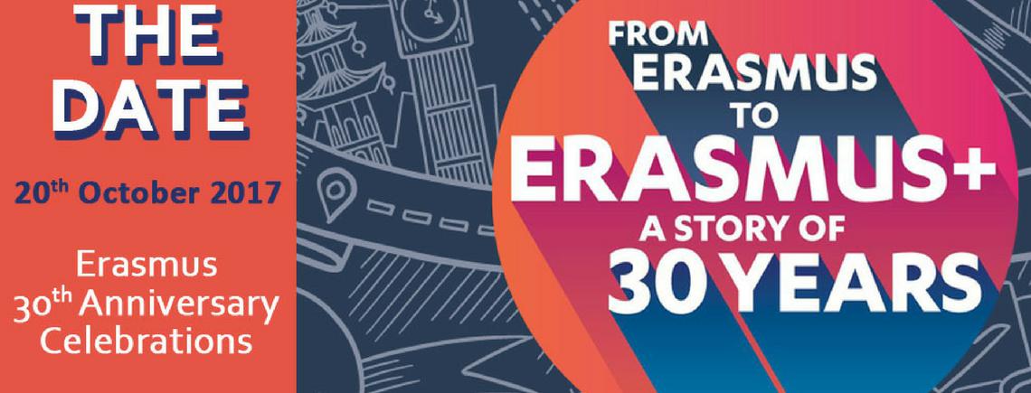 SAVE THE DATE: Da Erasmus a Erasmus+. Una storia lunga 30 anni