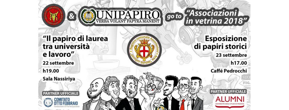 UniPapiro go to Associazioni in Vetrina 2018 | La Cultura a Padova Urbs Picta