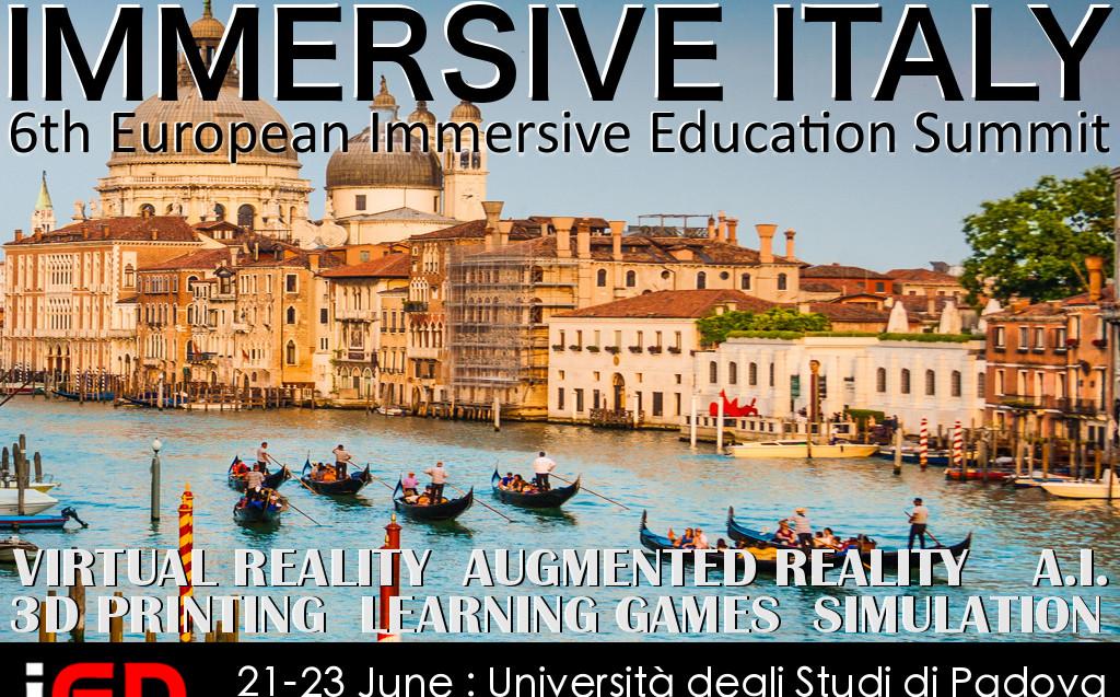 Immersive Italy | 6th European Immersive Education Summit