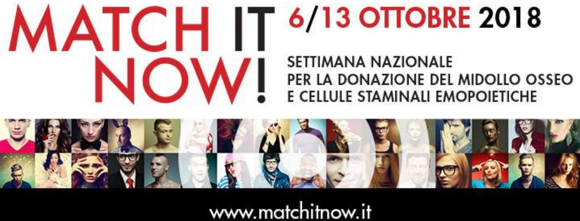 Match it now 2018: il 13 ottobre a Padova si chiude la settimana ADMO dedicata alla donazione!