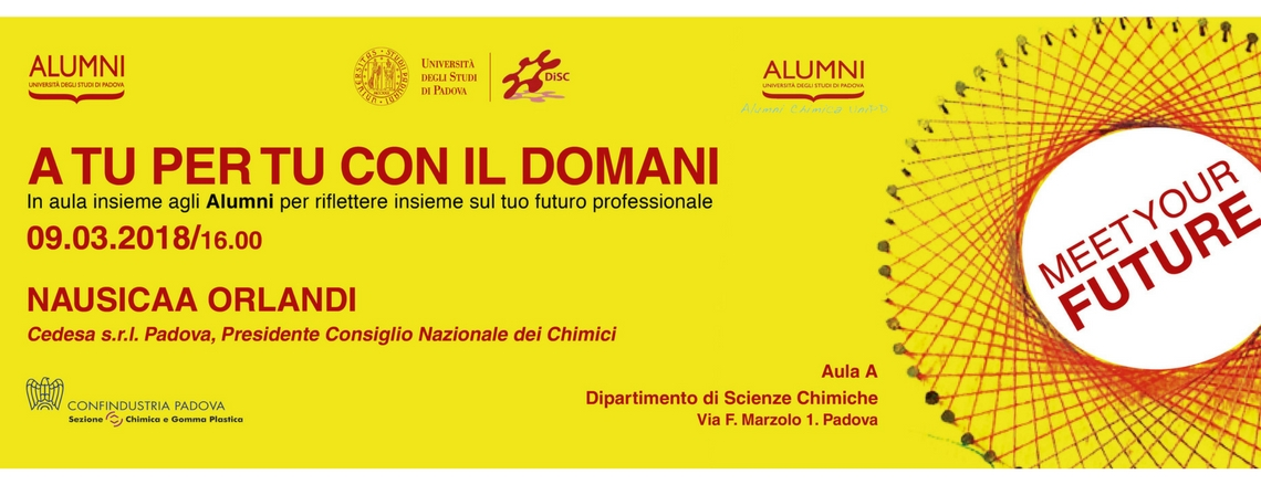 Meet Your Future:  incontri tra Alumni e studenti del Dipartimento di Scienze Chimiche