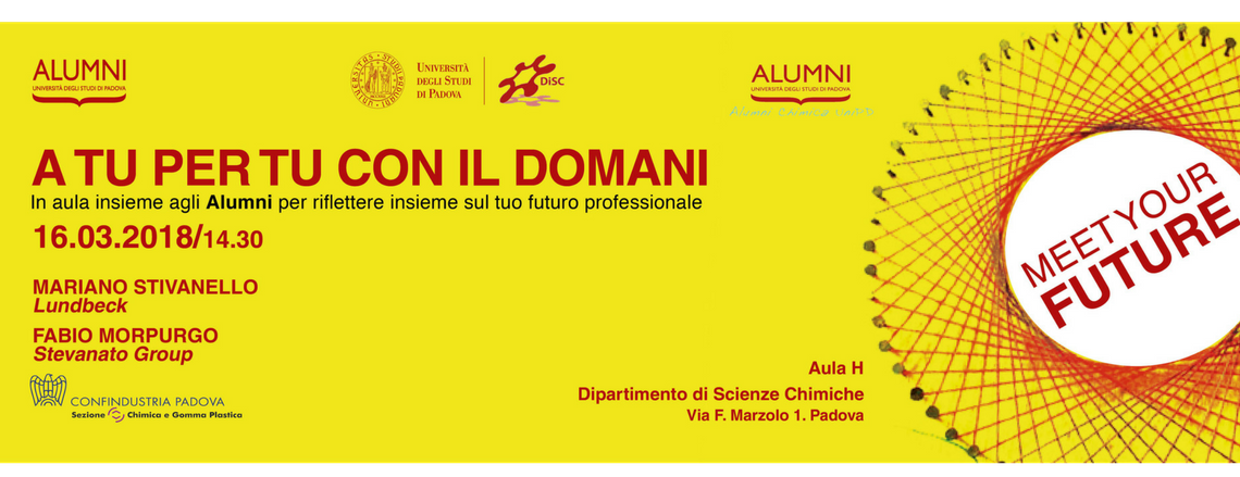 Meet Your Future al Dipartimento di Scienze Chimiche: incontro del 16 marzo 2018