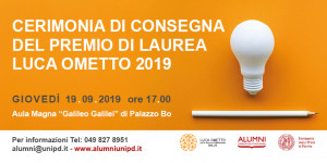 Consegna Premio Ometto 2019