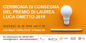 Cerimonia Consegna Premio Ometto Header