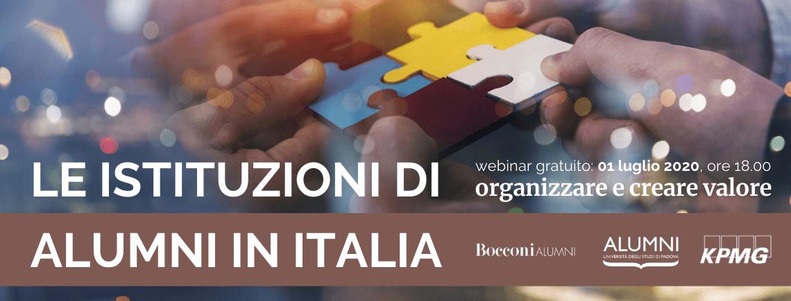 Le Istituzioni di Alumni in Italia: organizzare e creare valore