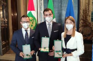 I tre medici e Alumni premiati: Luca Sostini, Paolo Simonato e Mariateresa Gallea