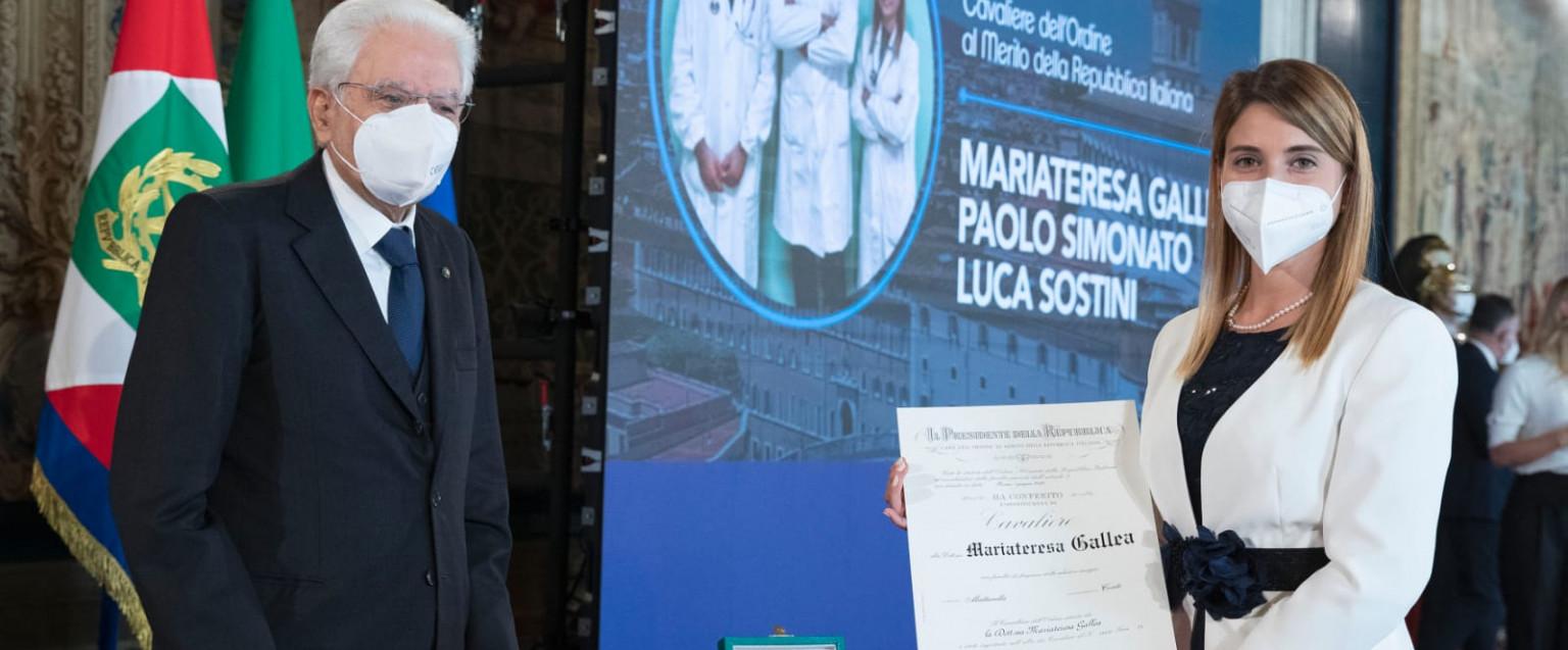 Mariateresa Gallea e il Presidente Mattarella