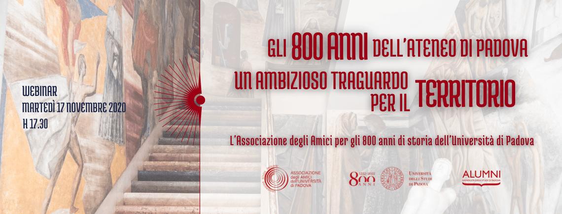 Gli 800 anni dell'Ateneo di Padova: un ambizioso traguardo per il territorio